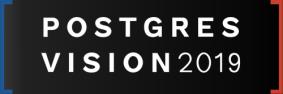 Postgres Vision 2019 Boston, Top 8 database events OptimaData