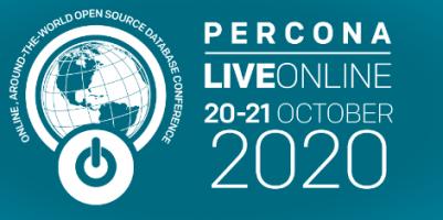 Percona LIVE online october 20 - october 21
