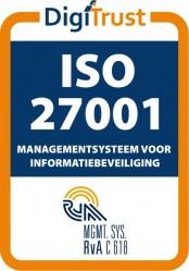 OptimaData ISO27001 gecertificeerd