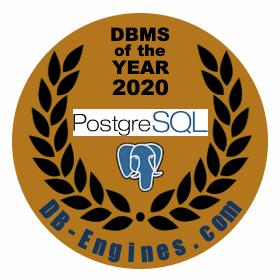 PostgreSQL DBMS van het jaar 2020!