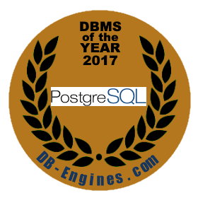PostgreSQL is DBMS of the year 2017!