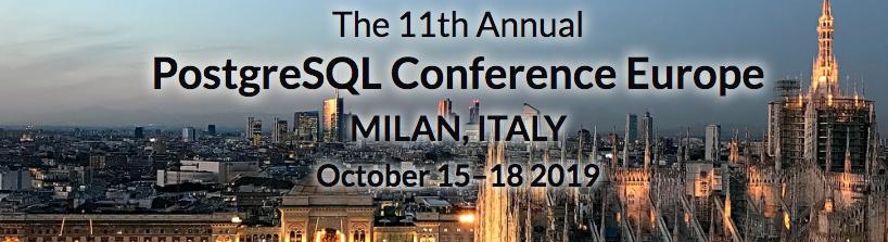 Gratis ticket naar PGConfEU 2019 Milaan, OptimaData ZilverSponsor!